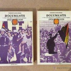 Libros de segunda mano: RECUPEREM LA NOSTRA HISTÒRIA DOCUMENTS. Lote 53498780