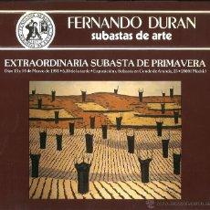 Libros de segunda mano: SUBASTAS DE ARTE FERNANDO DURÁN. 1991. Lote 53503458
