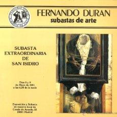 Libros de segunda mano: SUBASTAS DE ARTE FERNANDO DURÁN. 1991. Lote 53533979
