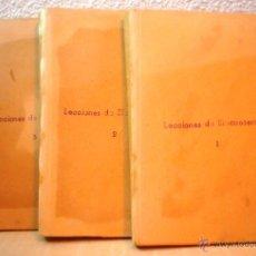 Libros de segunda mano: LECCIONES DE ELECTROTECNIA.3 VOLUMENES. RICARDO CARO Y ANCHIA. Lote 53591831