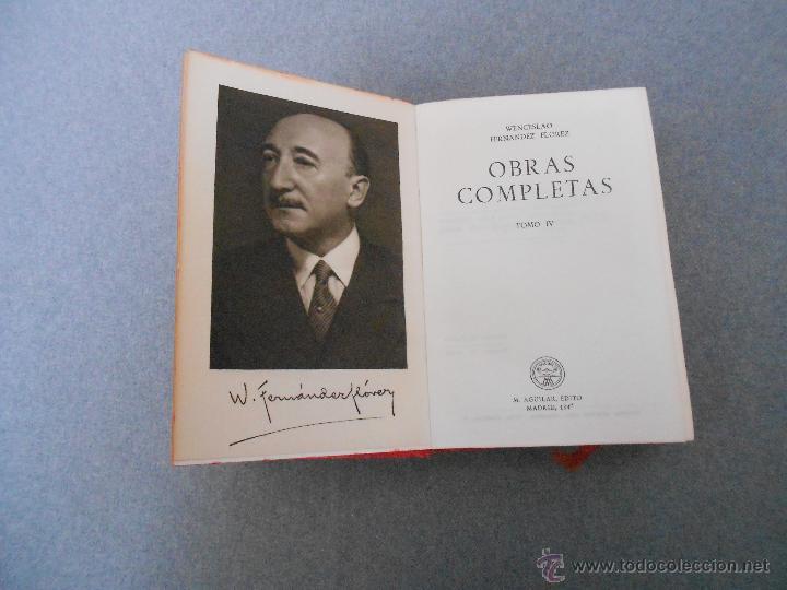 WENCESLAO FERNANDEZ FLOREZ. OBRAS COMPLETAS. TOMO IV (Libros de Segunda Mano (posteriores a 1936) - Literatura - Otros)