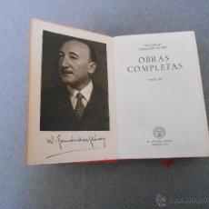 Libros de segunda mano: WENCESLAO FERNANDEZ FLOREZ. OBRAS COMPLETAS. TOMO IV. Lote 53698072