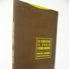 Libros de segunda mano: LA IZQUIERDA,EL PODER Y OTROS ENSAYOS,ARANGUREN,2005,TROTTA ED,REF MARX BS10. Lote 53719218