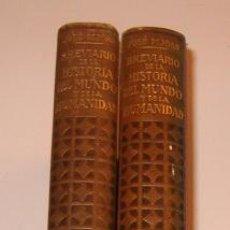 Libros de segunda mano: JOSÉ PIJOAN. BREVIARIO DE LA HISTORIA DEL MUNDO Y DE LA HUMANIDAD. TOMOS I Y II. RM72724.. Lote 53727693