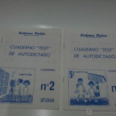 Libros de segunda mano: SISTEMA PALAU - CUADERNOS TEST DE AUTODICTADO Nº 2 Y 3. Lote 53774302