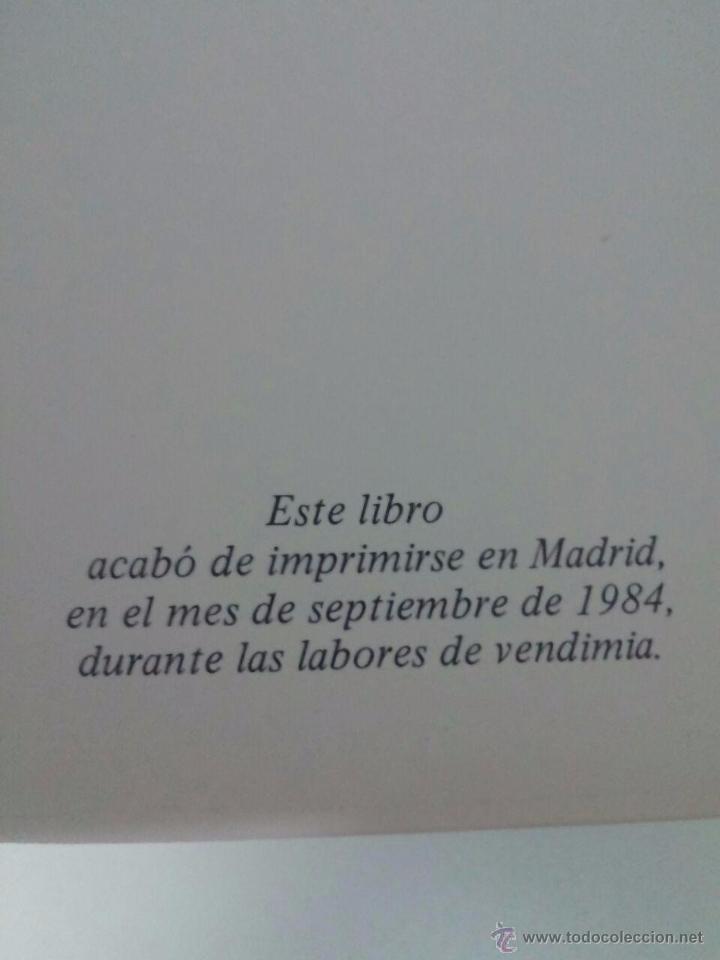 Libros de segunda mano: LOS VINOS DE ESPAÑA - CATA - EDICIONES CASTELL - 1984 - 27 X 26 - 342 p - CON ILUSTRACIONES A COLOR - Foto 7 - 53888644