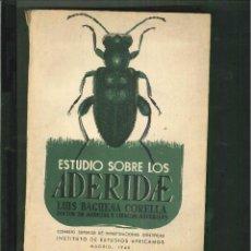 Libros de segunda mano - ESTUDIOS SOBRE LOS ADERIDAE. Luis Báguena, 1948 - 24651320