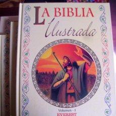 Libros de segunda mano: LA BIBLIA ILUSTRADA. (ESTUCHES Y TRES TOMOS). EVEREST 1995. (VI/10). Lote 53997373