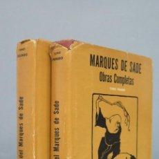 Libros de segunda mano: RARA ! OBRAS COMPLETAS. MARQUES DE SADE. EDASA. EDICION MEXICO. 2 TOMOS. Lote 128462422