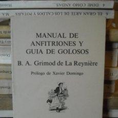 Libros de segunda mano: MANUAL DE ANFITRIONES. Lote 54061820