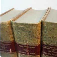 Libros de segunda mano: 1958 - PEDRO AGUADO BLEYE - MANUAL DE HISTORIA DE ESPAÑA -3 TOMOS, COMPLETO. Lote 54074553