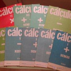 Libros de segunda mano: LOTE DE 9 CUADERNOS DE CALCULO -ANAYA - SUMAS -RESTAS -MULTIPLICACIONES - 1977 /1983. Lote 54099659