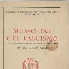 Livros em segunda mão: LIBRO DE - MUSSOLINI Y EL FASCISMO -. Lote 54110296