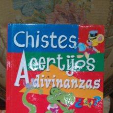 Libros de segunda mano: CHISTES-ACERTIJOS-ADIVINANZAS. ILUSTRACIONES JUAN LOPEZ RAMON.. Lote 54191586