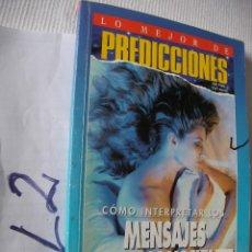 Libros de segunda mano: PREDICCIONES - COMO INTERPRETAR LOS MENSAJES DEL INCONSCIENTE. Lote 54195086