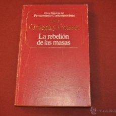 Libros de segunda mano: LA REBELIÓN DE LAS MASAS - JOSE ORTEGA Y GASSET - PLANETA AGOSTINI - FIB. Lote 54204611