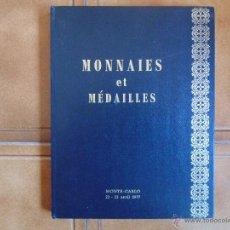 Libros de segunda mano: MONEDAS Y MEDALLAS MONTECARLO AVRIL DE 1977 ILUSTRADO FOTOS A COLOR. Lote 54295222