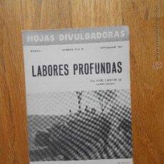 Libros de segunda mano: LABORES PROFUNDAS, JOSE GASCON, HOJAS DIVULGADORAS 1951. Lote 54379877