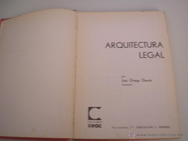 Libros de segunda mano: Arquitectura Legal - Sobre Construcción y Arquitectura - Monografías CEAC Nº 47 1964 - Foto 2 - 54418601