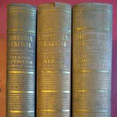 Libros de segunda mano: ALBERTO DEL CASTILLO . HISTORIA GENERAL I, II Y III . 1943. Lote 54423107