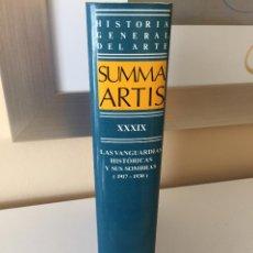 Libros de segunda mano: SUMMA ARTIS XXXIX - LAS VANGUARDIAS HISTÓRICAS Y SUS SOMBRAS 1917-1930, ESPASA CALPE MUY BUEN ESTADO. Lote 54427712