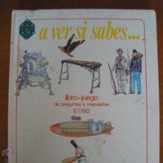 Libros de segunda mano: A VER SI SABES... LIBRO JUEGO DE PREGUNTAS 51/60 IDEA BOOKS . Lote 54442565