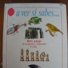 Libros de segunda mano: A VER SI SABES... LIBRO JUEGO DE PREGUNTAS 11/20 IDEA BOOKS . Lote 54442624
