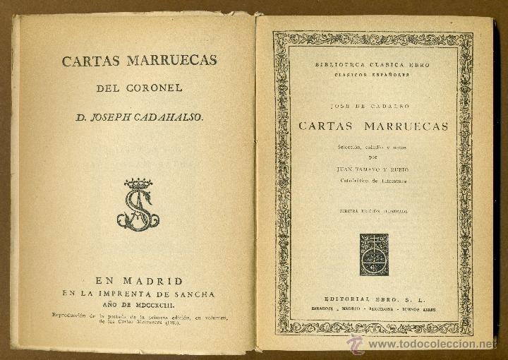 Libros de segunda mano: CLASICOS EBRO - CARTAS MARRUECAS JOSE DE CADALSO - Foto 3 - 54501376