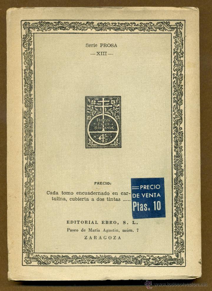 Libros de segunda mano: CLASICOS EBRO - CARTAS MARRUECAS JOSE DE CADALSO - Foto 4 - 54501376