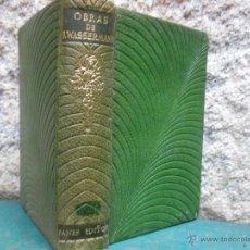 Libros de segunda mano: OBRAS DE J.WASSERMANN - JANES EDITOR 1958 - TOMO I - 1440PAG PIEL, EXCELENTE. Lote 54543254