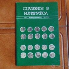Libros de segunda mano: LIBRO CUADERNOS DE NUNISMATICA ,NUMERO 16,EDITA NUMINTER 1978. Lote 54560397