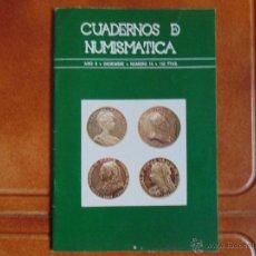Libros de segunda mano: CUADERNOS DE NUNISMATICA EDITA NUMINTER NUMERO -19 -AÑO 1978. Lote 54560731