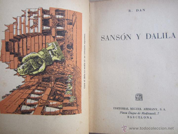 Libros de segunda mano: coleccion robinsones n. 2 , sanson y dalila , R. Dan , 1953 - Foto 3 - 105137280