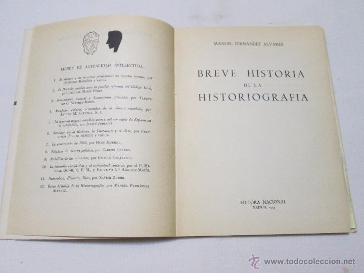 Libros de segunda mano: BREVE HISTORIA DE LA HISTORIOGRAFIA - FERNANDEZ ALVAREZ, M. - 1955 - Foto 2 - 54586263