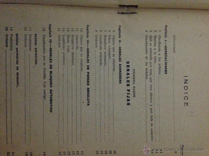 Libros de segunda mano: Reglamento señales ferroviarias 1949 - Foto 2 - 54594986