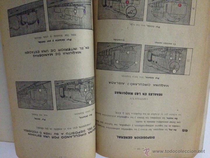 Libros de segunda mano: Reglamento señales ferroviarias 1949 - Foto 4 - 54594986