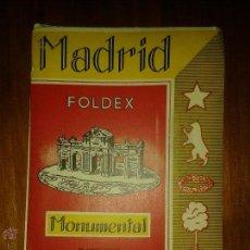 Libros de segunda mano: LIBROS ARTE MADRID - MADRID MONUMENTAL PLANO GUIA FOLDEX EDITORIAL ALMAX 1958. Lote 54616768
