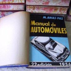 Libros de segunda mano: MANUAL DE AUTOMÓVILES . AUTOR : ARIAS-PAZ, MANUEL . Lote 54643838