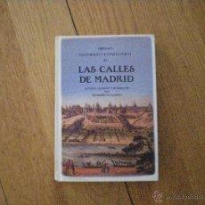Libros de segunda mano: LAS CALLES DE MADRID DE ANTONIO CAPMANY Y MONTPALAU. EDICIÓN FACSIMIL. Lote 54650257