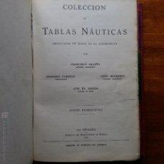 Libros de segunda mano: CURIOSO LIBRO RECONSTRUIDO DE TABLAS NAUTICAS, NAVEGACION ASTRONOMICA AÑOS 50-60. APUNTES A MANO. Lote 54694443
