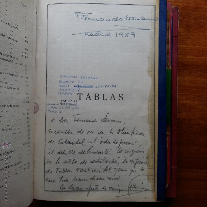 Libros de segunda mano: CURIOSO LIBRO RECONSTRUIDO DE TABLAS NAUTICAS, NAVEGACION ASTRONOMICA AÑOS 50-60. APUNTES A MANO - Foto 7 - 54694443
