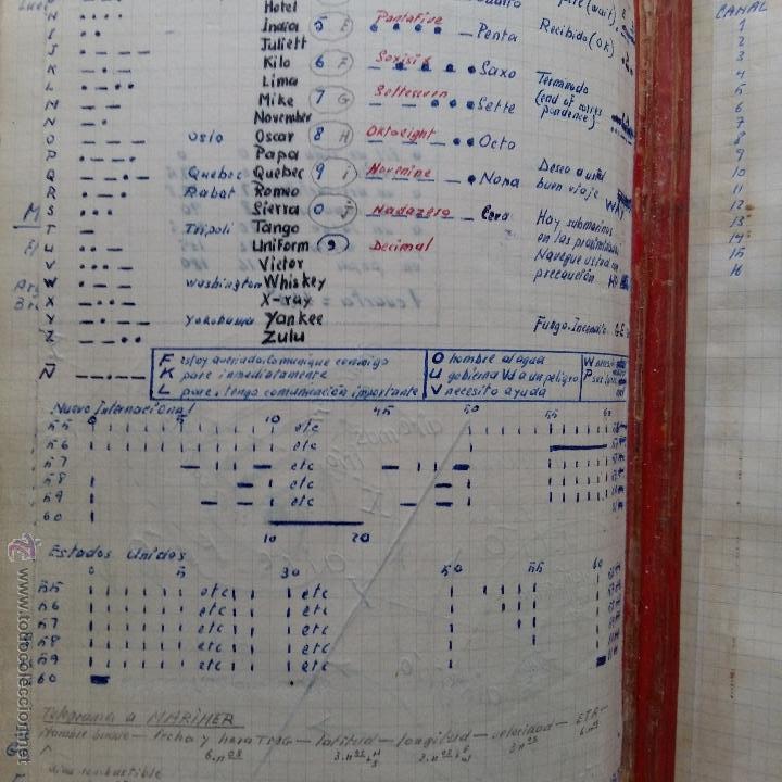 Libros de segunda mano: CURIOSO LIBRO RECONSTRUIDO DE TABLAS NAUTICAS, NAVEGACION ASTRONOMICA AÑOS 50-60. APUNTES A MANO - Foto 10 - 54694443