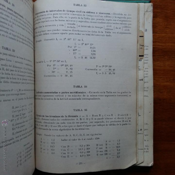 Libros de segunda mano: CURIOSO LIBRO RECONSTRUIDO DE TABLAS NAUTICAS, NAVEGACION ASTRONOMICA AÑOS 50-60. APUNTES A MANO - Foto 12 - 54694443