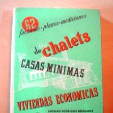 Libros de segunda mano: 62 PROYECTOS DE CHALETS.,CASAS MINIMAS,VIVIENDAS ECONOMICAS.FACHADAS,PLANOS,MEDICIONES.. Lote 54726316
