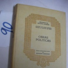 Libros de segunda mano: ALONSO DE NAVA GRIMON - OBRAS POLITICAS - ALEJANDRO CIORANESCU. Lote 54730774
