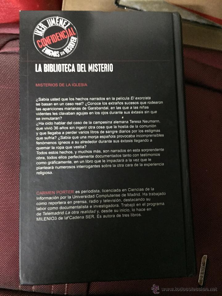 Libros de segunda mano: BIBLIOTECA IKER JIMENEZ ENIGMAS SIN RESOLVER LIBRO MISTERIOS DE LA IGLESIA CARMEN PORTER EDAF - Foto 2 - 54742264