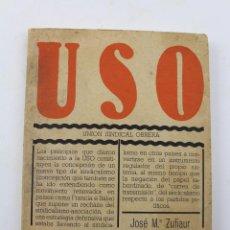 Libros de segunda mano: L-3325 USO UNION SINDICAL OBRERA. JOSE Mª. ZUFIAUR 1976. Lote 54743795