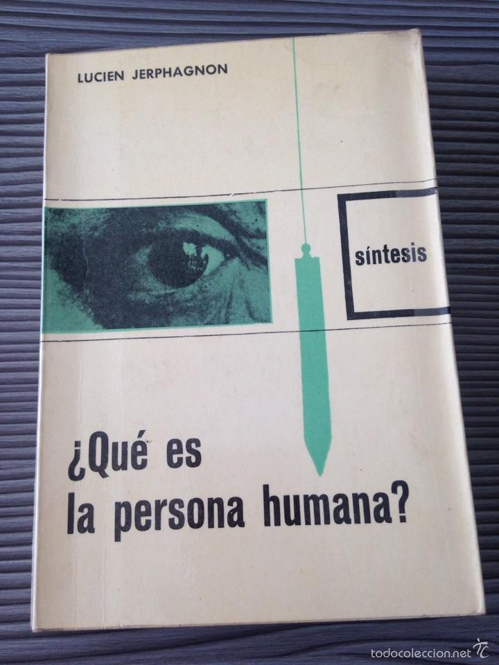 ¿QUE ES LA PERSONA HUMANA? (Libros de Segunda Mano - Pensamiento - Otros)
