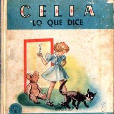 Libros de segunda mano: ELENA FORTÚN : CELIA LO QUE DICE (AGUILAR, 1952). Lote 54828519