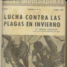Libros de segunda mano: HOJAS DIVULGADORAS. MINISTERIO DE AGRICULTURA. SERVICIO DE CAPACITACIÓN Y PROPAGANDA. (1949-1950). Lote 54849591